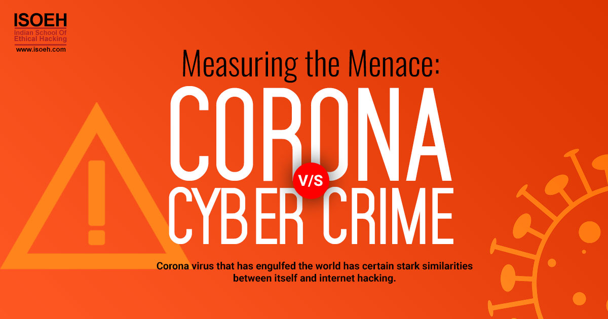 Measuring the Menace: Corona versus Cyber Crime