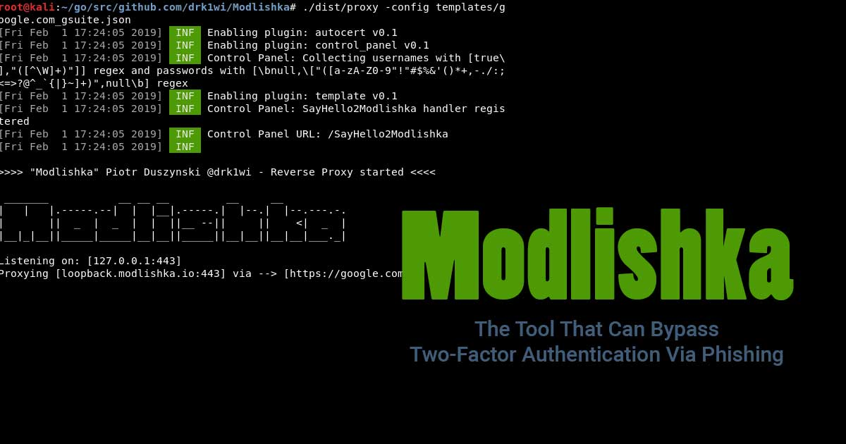 Modlishka - The Tool That Can Bypass Two-Factor Authentication Via Phishing